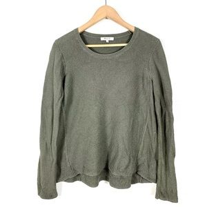 Madewell Textured Sweater Pullover Green Medium